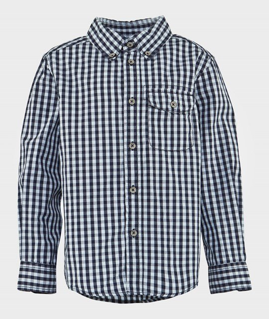 United Colors of Benetton Blue Gingham Shirt BLUE 908