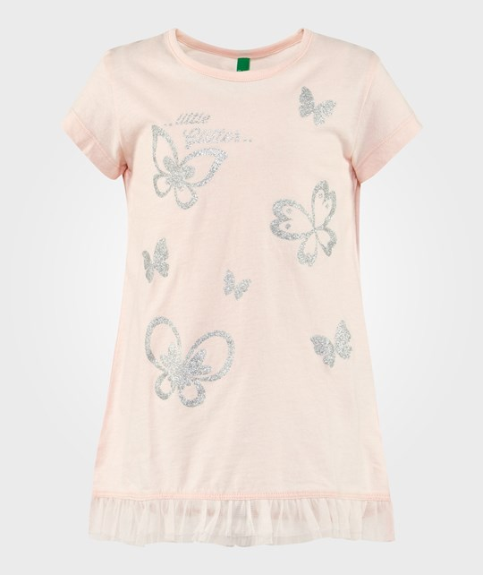 United Colors of Benetton Butterfly T-Shirt Pale Pink PALE PINK 23W
