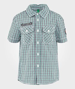 United Colors of Benetton Green Check Shirt