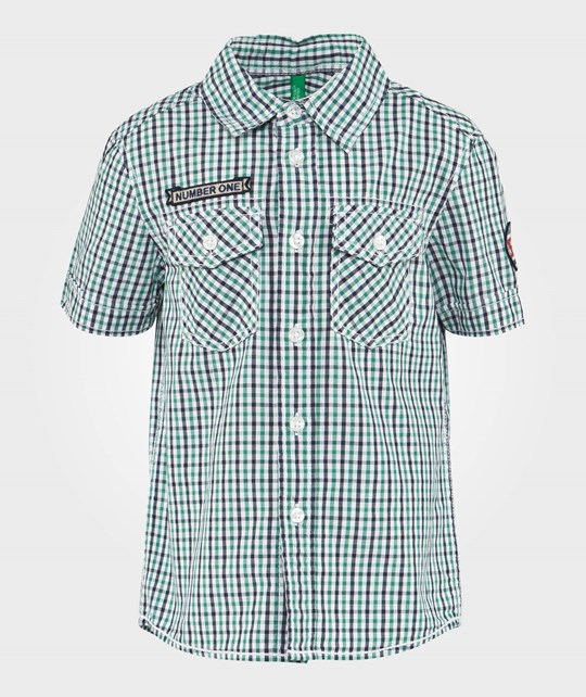 United Colors of Benetton Green Check Shirt  GREEN 912