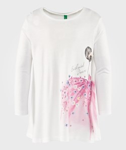 United Colors of Benetton Ballerina A-Line Tee White