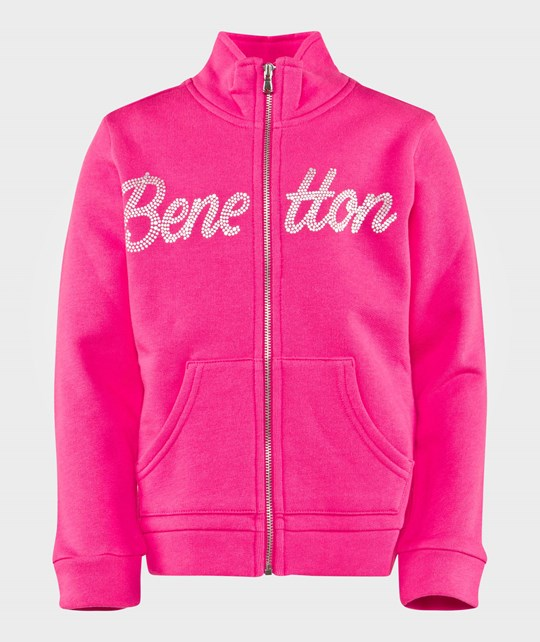 United Colors of Benetton Logo Sweater Fuschia FUSCHIA 32U