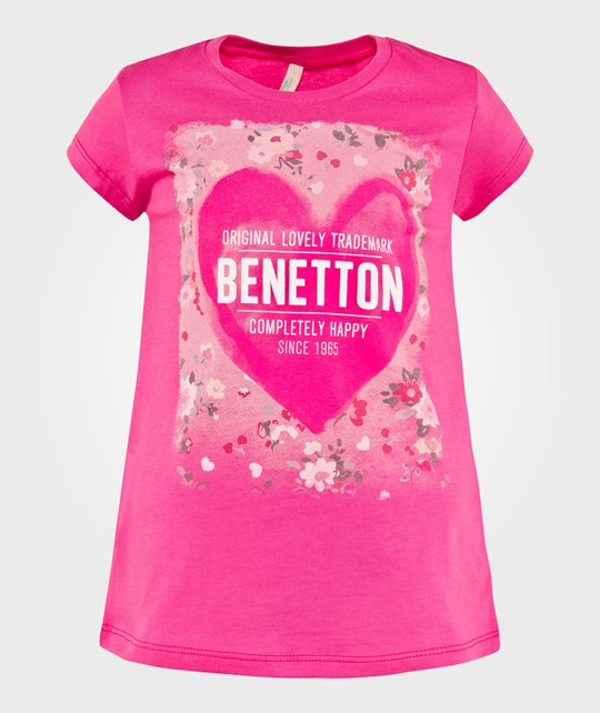 United Colors of Benetton Футболка  Logo Heart T-Shirt Fuschia FUSCHIA 32U