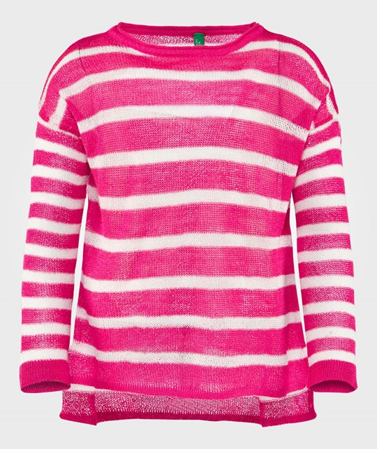United Colors of Benetton Кофта  Stripe Knit Sweater Fuschia FUSCHIA 921