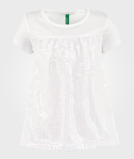United Colors of Benetton Sequins T-Shirt White WHITE 101