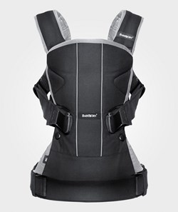 Babybjörn Baby Carrier One Black/Silver Cotton Mix