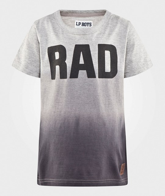 Little Pieces Dip Tee Light Grey Melange Light Grey Melange