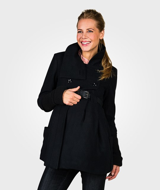 Mom2Mom Cashmere Coat Collar Black Black