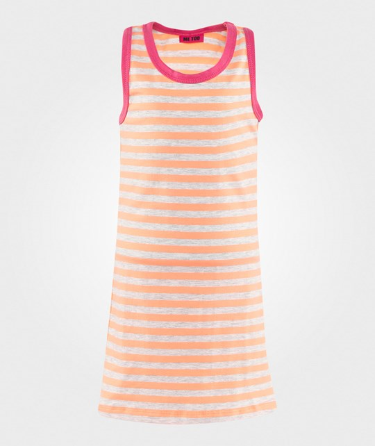 Me Too Gy Kids Dress Neon Coral Neon Coral