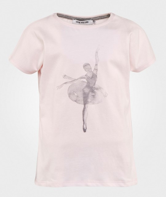 One We Like Pop T-Shirt Ballet Pink Lyserød