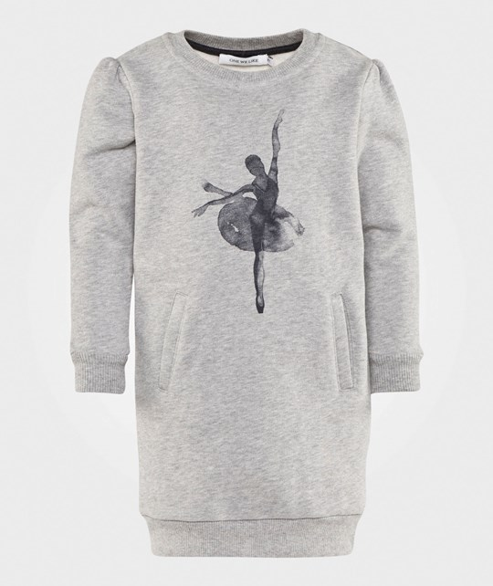 One We Like Hipp Dress Ballet Grey Grå
