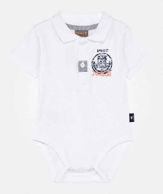 Hust&Claire Polo Baby Body White White