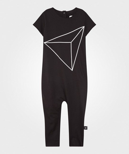 NUNUNU Short Sleeve Jumpsuit Black Black