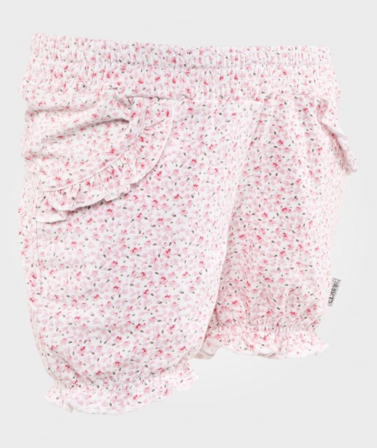 Hust&Claire Floral Shorts White White