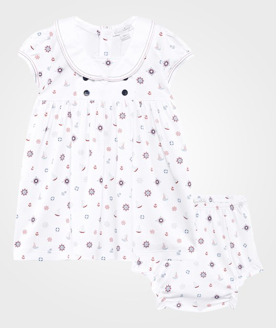 Kissy Kissy Nautical Mile Print Dress with Collar & Bloomers Nautical