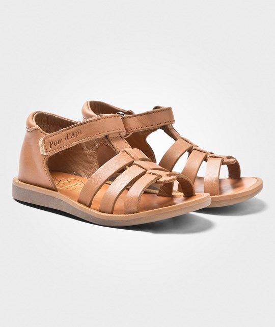 Pom Dapi Poppy Strap Sandals Clear Brown Clear Brown