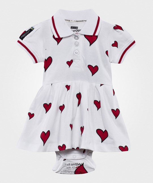 Lundmyr Of Sweden Heart Dress White/Red Wht/red