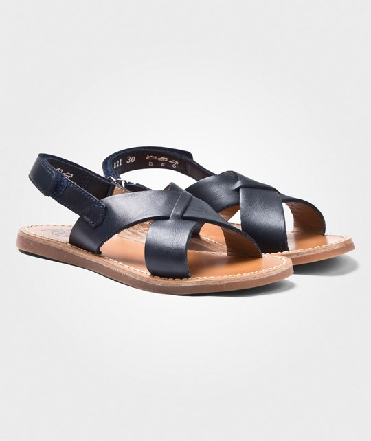 Pom Dapi Plage Stitch Cross Sandals Navy Navy