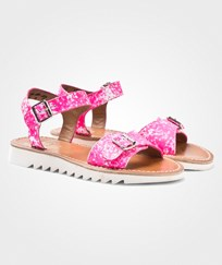 Pom Dapi Ripple Buckle Sandal Fluo Pink Fluo Pink with White NUANCES