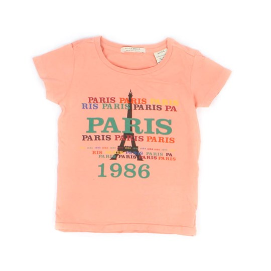 Scotch R'belle T-Shirt Apricot Paris Pink
