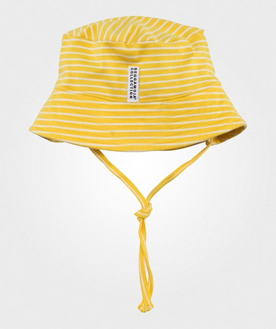 Geggamoja Sunny Hat Yellow/white Yellow/White