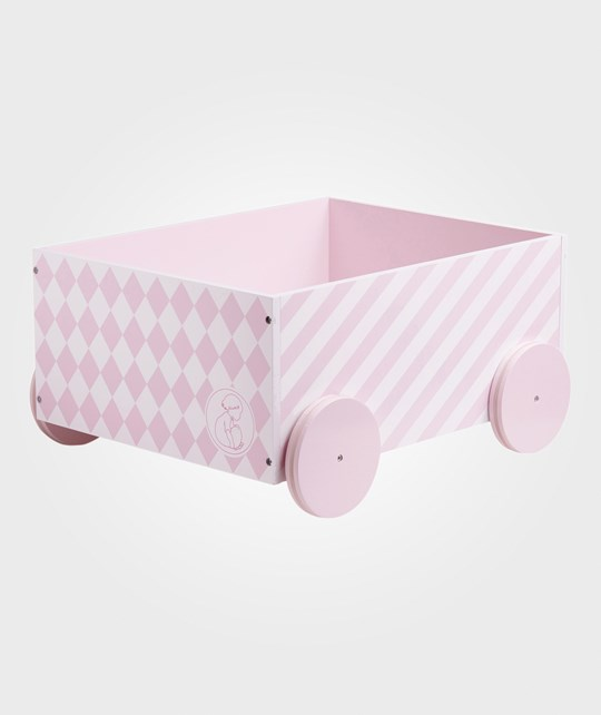 Kids Concept Barnkammaren Box With Wheels Pink Pink