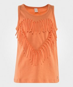 Esprit Heart Fringe Tank Orange