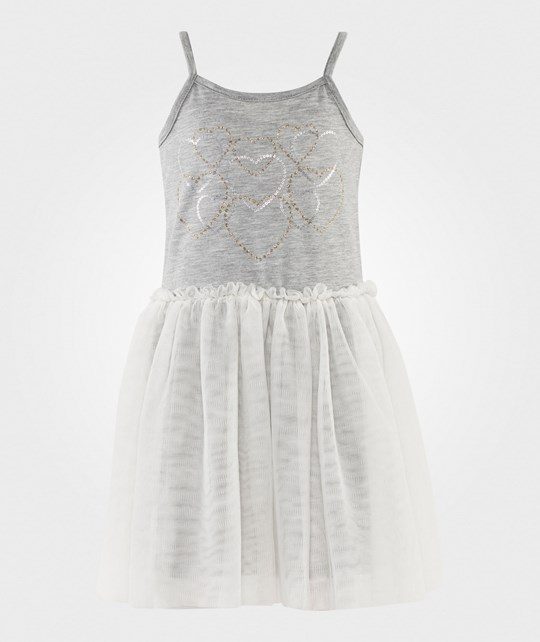 Esprit Heart Tulle Dress Grey Medium Grey