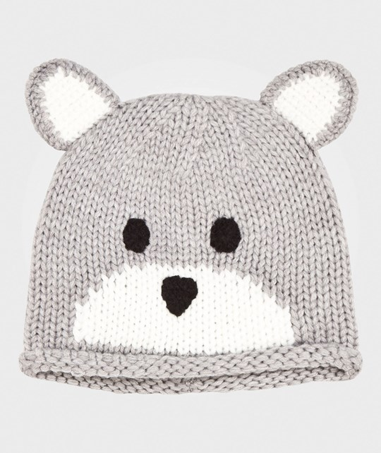 United Colors of Benetton Teddy Knit Hat Grey Grey