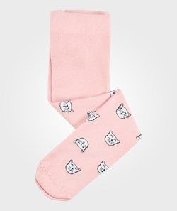 United Colors of Benetton Tights With Cat Pictures All Over It Pink