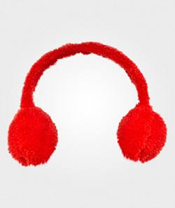 United Colors of Benetton Fluffy Ear Muffs Red