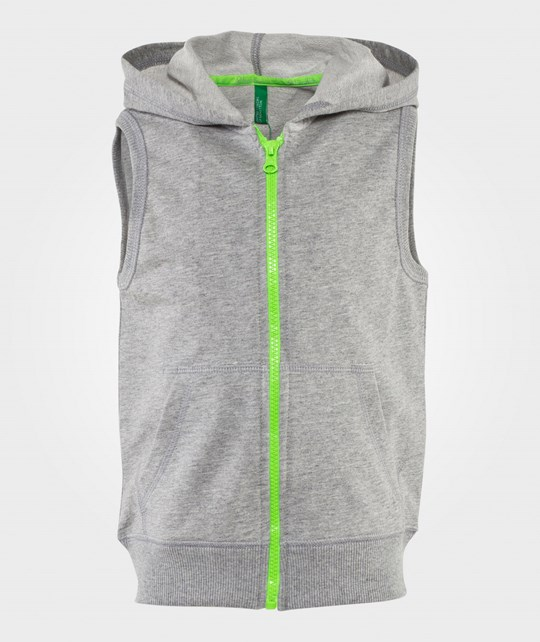 United Colors of Benetton Sleeveless Hoodie Grey Melange MELANGE GREY 501