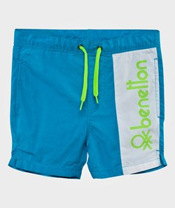United Colors of Benetton Casual Logo Shorts Bright Blue