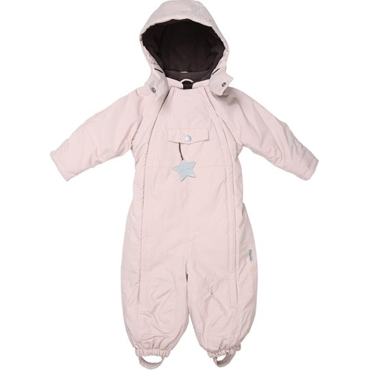 Mini A Ture Wist Baby Overall Pale Mauve Pink