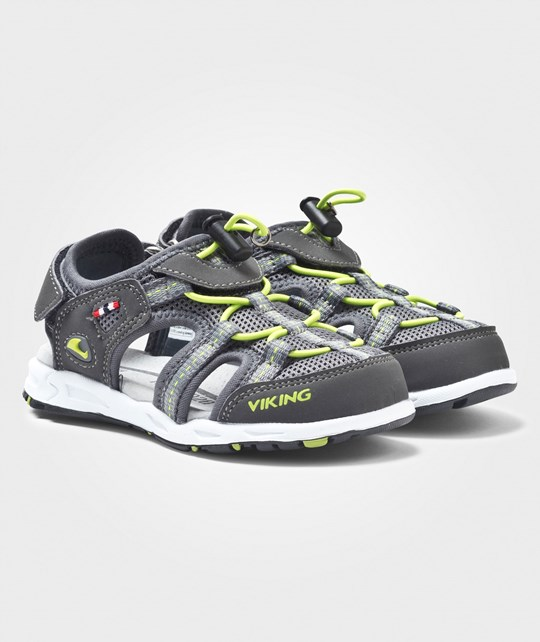 Viking Thrill Sandaalit Harmaat/Lime Charcoal/Lime