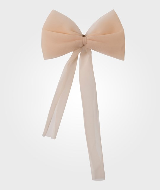 DOLLY by Le Petit Tom Chiffon Ballet Hair Bow Cream Cream
