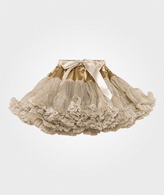 DOLLY by Le Petit Tom Dolly Glitter Petit Skirt Gold Gull