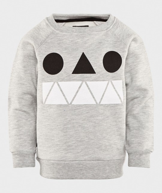 One We Like Rag Sweat Monster Grey Melange Grey Melange