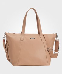 Storksak Noa Leather Changing Bag Almond Brown