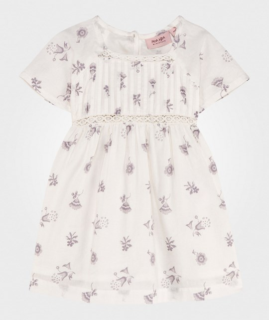 Noa Noa Miniature Baby Delicate Voile Printed Dress Chalk Chalk