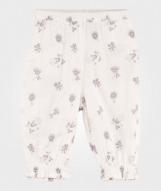 Noa Noa Miniature Baby Delicate Voile Printed Trousers Chalk Chalk