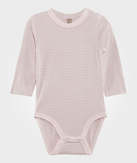Hust&Claire Striped Baby Body Bamboo White White