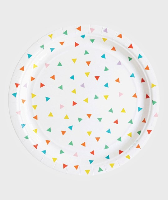 My Little Day 8 Paper Plates - Multicolor Triangles multicolour triangles