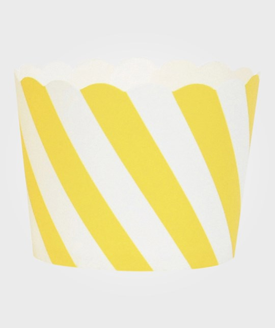 My Little Day 25 Baking Cups - Yellow Diagonals yellow diagonals