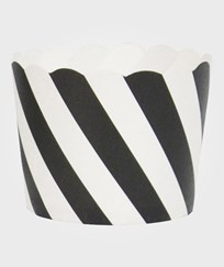 My Little Day 25 Baking Cups - Black Diagonals black diagonals