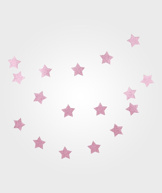 My Little Day Glitter Star Garland - Pink Pink
