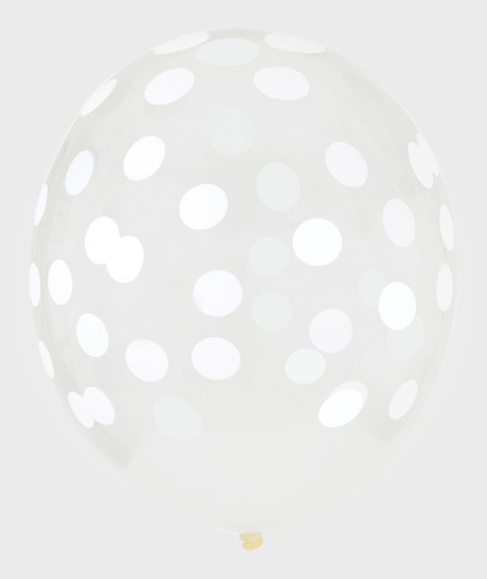 My Little Day 5 Printed Confetti Balloons - White White