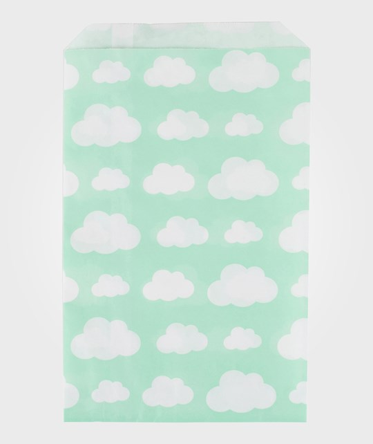 My Little Day 10 Paper Bags - Aqua Clouds clouds
