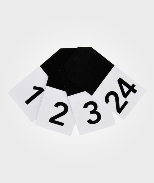 My Little Day 24 Gift Tags - Black Numbers black numbers