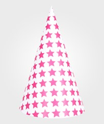 My Little Day 8 Party Hats - Bright Pink Stars bright pink stars